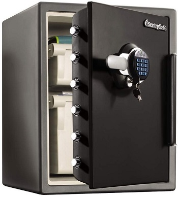 Providing reliable protection from fire, impact and water damage. The  SFW205GQC Digital Safe makes sure your valuables will be kept secure in  your home.