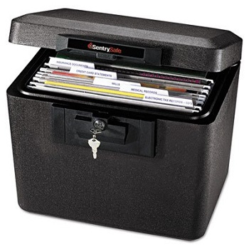 sentrysafe 1170blk 12 hour fireproof security file in black